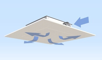 LTG DSA AirPanel: the first invisible air diffuser! invisible Air Diffuser DSA AirPanel, integrated into Knauf (acoustic) ceilings