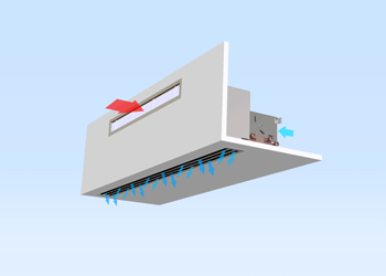 Induction Unit LHG System Indivent <br> ceiling installation