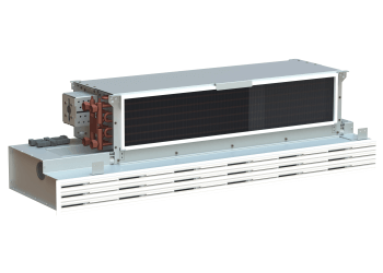 Combination of fan coil unit and <br>linear air diffuser, VKL