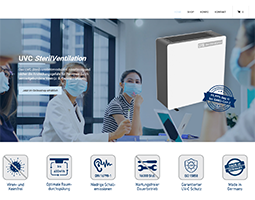 LTG eröffnet Onlineshop für Umluft-Entkeimungsgeräte UVC SterilVentilation