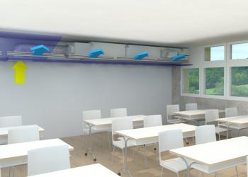 Dezentrales Schullüftungsgerät FVS-600 Eco2School Deckeneinbau